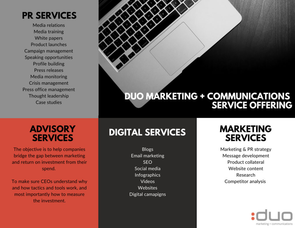 DUO Marketing + Communications Service Offering