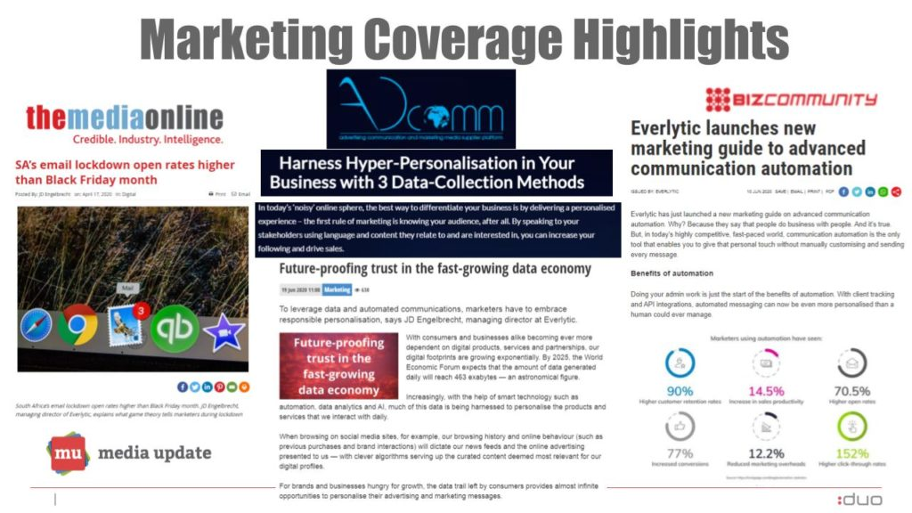 Everlytic PR review marketing media coverage