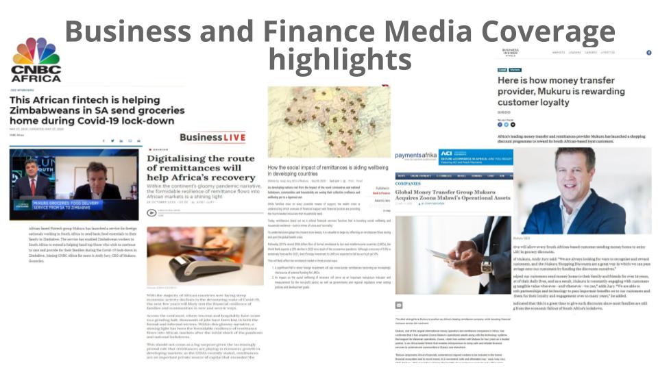 Mukuru case study - business and finance PR coverage