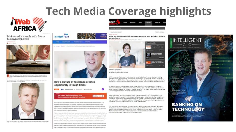 Mururu case study - Tech PR coveage highlights